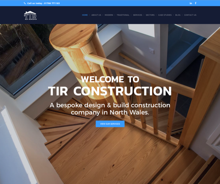 TIR Construction is proud to announce the launch of our new website. Our new website provides a clear message of our company accreditations and services, what we stand for and where our value lies within design and construction. The website boasts a clean and contemporary design and intuitive, streamlined navigation system...